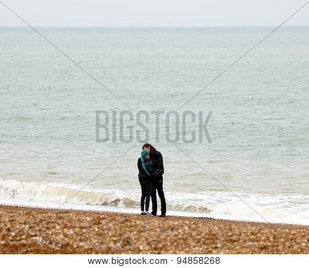 Lovers on the beach