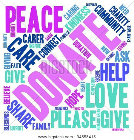 Donate Word Cloud
