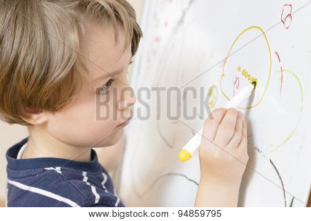 Cute Boy Drawing