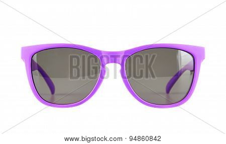 Violet sun glasses isolated