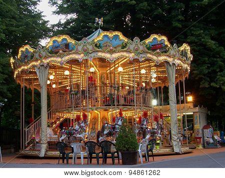 The town carousel in Montecatini