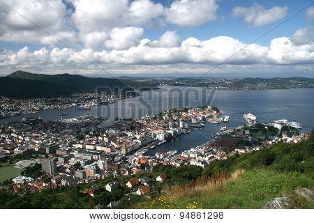 View of Bergen from Mount Floyen