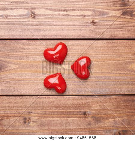 Composition of three hearts