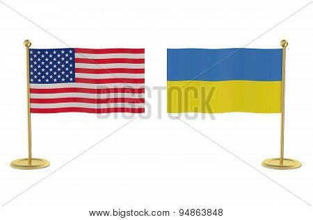 Meeting Usa With Ukraine Concept