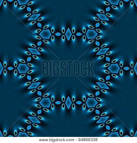 Seamless Abstract Blue Foil Stretched And Perforated