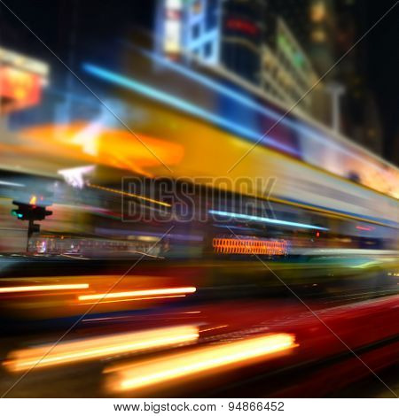 Abstract Cityscape Blurred Background. Hong Kong
