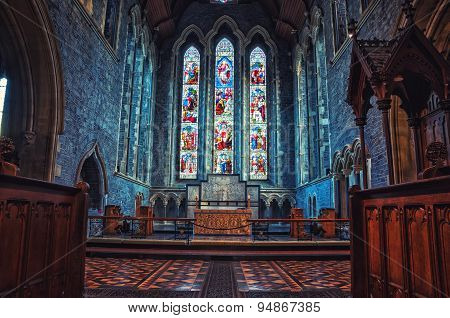 Interior of St Canice's Cathedral in Kilkenny, Ireland