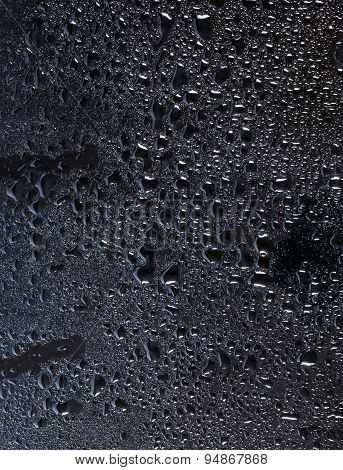 Dark Glass With Natural Water Drops