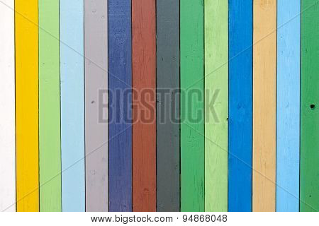 Multicolor Old Wooden Fence