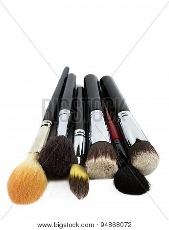 Professional Makeup Brushes Isolated