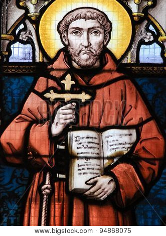 Stained Glass - Saint Francis Of Asisi