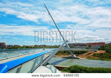 Saragossa Third Millennium Bridge in Spain