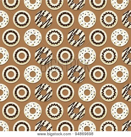 Chocolate Donut Background.
