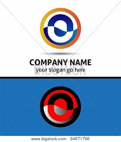 Vector illustration of abstract icons based on the letter O logo