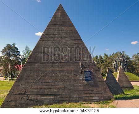 Pyramids of the memorial complex