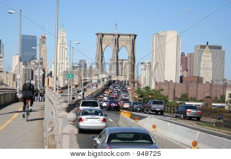 Traffic Jam Brooklyn Bridge
