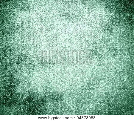 Grunge background of aero blue leather texture