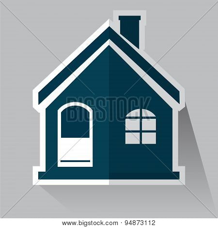 Building Icon, House Icon Vector Illustration