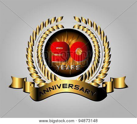 90 years Anniversaryvector celebration