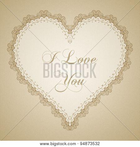 Vintage Lace Heart Frame