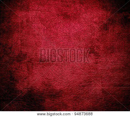 Grunge background of alabama crimson leather texture