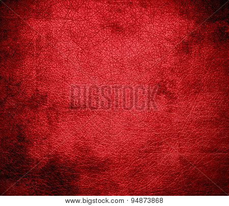 Grunge background of alizarin crimson leather texture