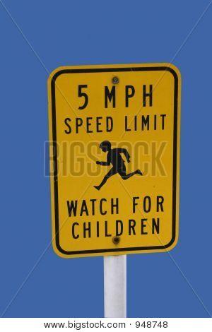 Watch For Children Sign