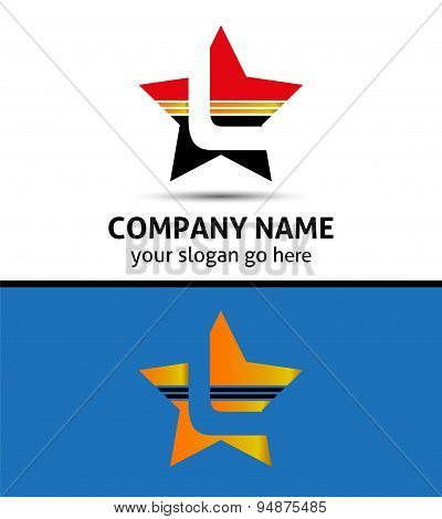 Letter L logo with star icon