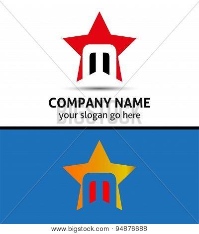 Alphabet icon M logo