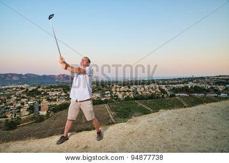 Guy With Selfie Stick