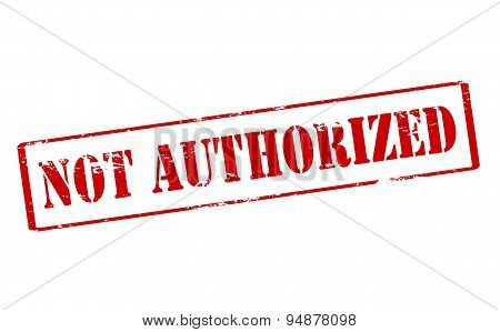 Not Authorized