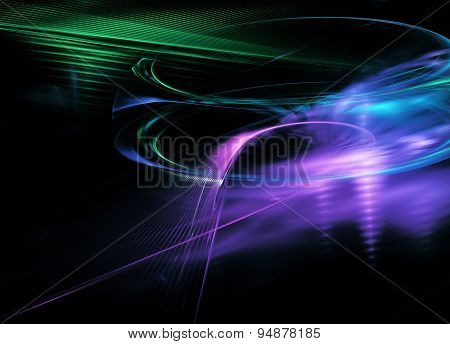 Fractal Flame Abstract Line Dinamic Background