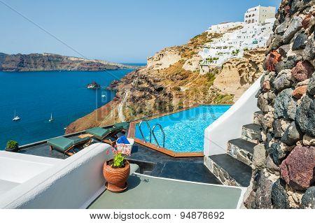 Swimming Pool With Beautiful Sea View