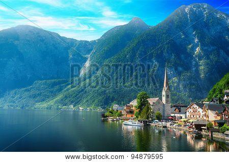 Village On Lake Shore