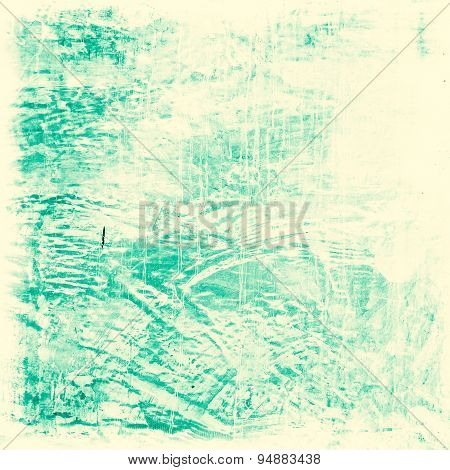 Designed Blue Grunge Cement Wall Texture, Background
