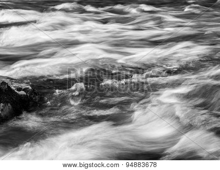 Wild River Flowing Over Rocks