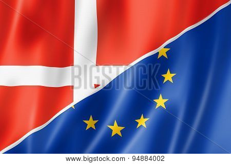 Denmark And Europe Flag