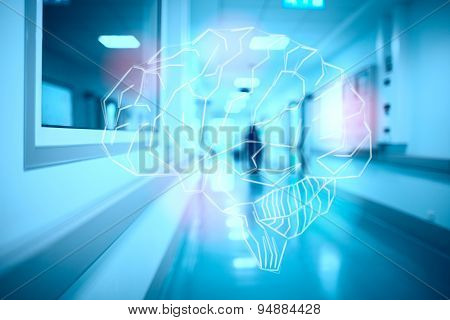 Brain On The Blurred Hospital Corridor Concept Of Intense Mental Work