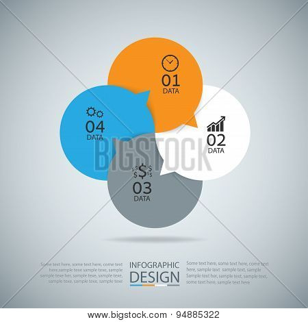 Abstract Infographic Modern Design Layout. Eps10 Vector