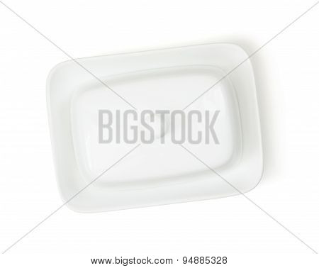 White Ceramic Butter Container