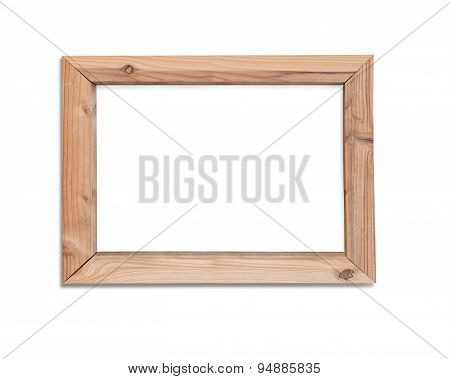 Empty Wooden Frame Window