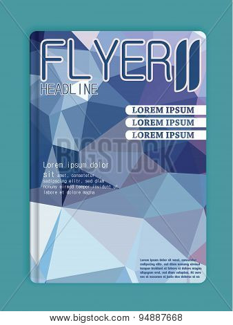 Business Brochure Template Cover Space Low Poly