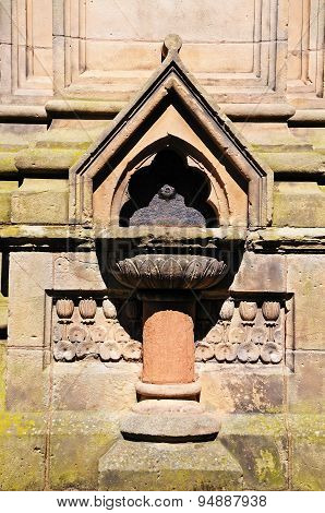 Stone drinking fountain, Shrewsbury.
