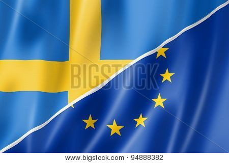 Sweden And Europe Flag
