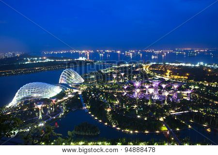 Gardens By The Bay at dusk, Singapore