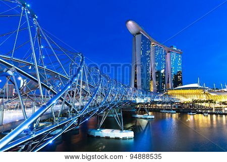 Marina Bay at dusk, Singapore