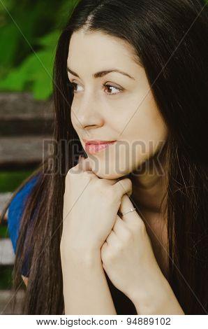 Beautiful happy young woman smiling headshot