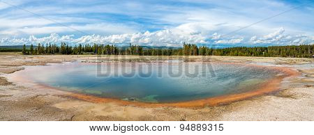 Panoramic View In Yellowstone National Park