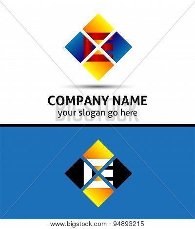 Corporate Logo E Letter company vector design template