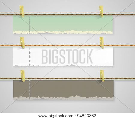 set of vector paper banners
